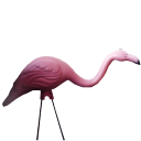 Pink flamingo icon