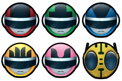 Bioman Avatar Icons