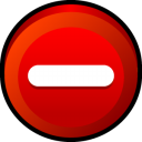 Button Delete icon