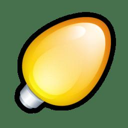 Christmas Light Orange icon