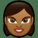 Female Face FD 1 dark icon