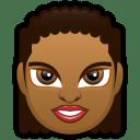 Female-Face-FD-3-dark icon