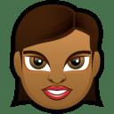 Female Face FD 4 dark icon