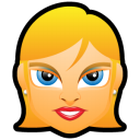 Female Face FE 3 blonde icon