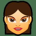 Female Face FG 2 brunette icon