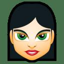 Female Face FI 4 icon