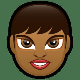 Female Face FD 2 dark icon