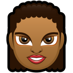 Female Face FD 3 dark icon