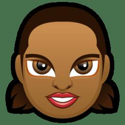 Female Face FD 5 dark icon