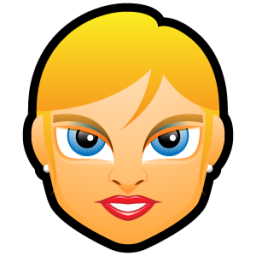 Female Face FE 2 blonde icon