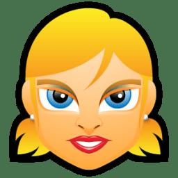 Female Face FE 5 blonde icon