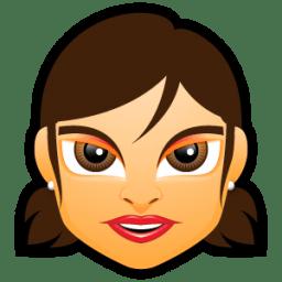 Female Face FG 1 brunette icon