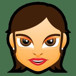 Female Face FG 5 brunette icon