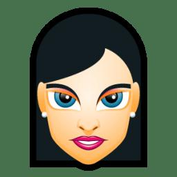 Female Face FH 3 slim icon