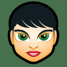 Female Face FI 3 icon