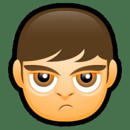 Male Face A4 icon