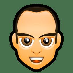 Male Face F1 icon
