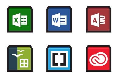 Flat Strokes App Icons