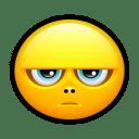 Smiley grumpy icon