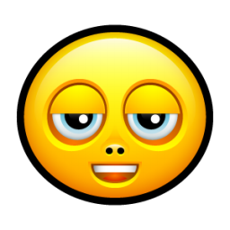 Smiley stoned icon