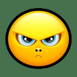 Smiley upset 3 icon