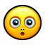 Smiley surprised icon