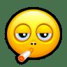 Smiley-smoking icon