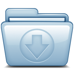 Blue Download icon