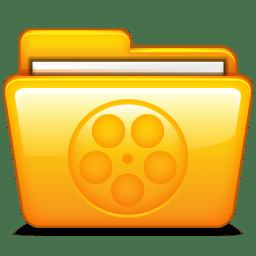 Movies Icon Mac Folders Iconset Hopstarter