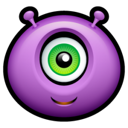 Alien happy icon