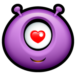 Alien love icon