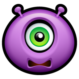 Alien scared icon