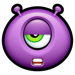 Alien talk tired icon