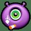 Alien smoking icon