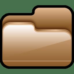 Folder Open Brown icon