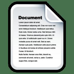 Document Icon Sleek Xp Basic Iconset Hopstarter