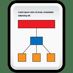 Document Organization Chart icon