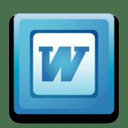 Microsoft Word Icon Software Iconset Hopstarter