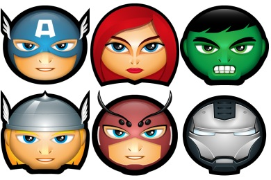 Avengers Superhero Avatar Icons