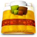 Futon bed icon