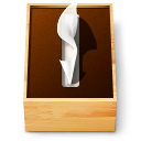 Tissue paper box icon