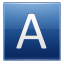Letter A blue icon
