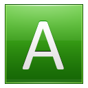 Letter A lg icon
