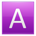 Letter-A-pink icon