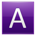 Letter A violet icon