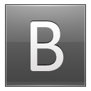 Letter B grey icon