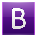 Letter B violet icon