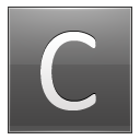 Letter C grey icon