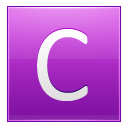 Letter C pink icon
