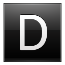 Letter D black icon